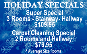 Holiday Carpet Cleaning Specials